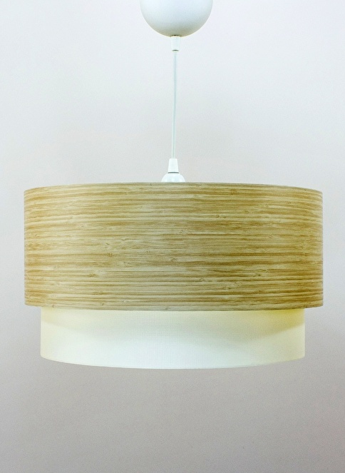Crea Lighting Doubleshade Medium Sarkıt 30cm Kahve